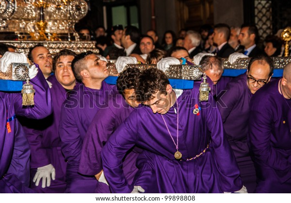 Madrid Apr 6 Nazarene Procession During Stock Photo (Edit