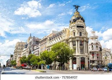 Madrid en un bello día de verano, España