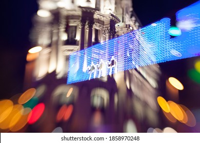 Madrid by Night Lights Bokeh