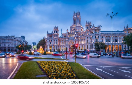 Madrid in the evening, spain