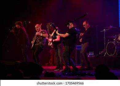 "Madrid February 2, 2018 - Sala La Riviera - Live Concert ""Sinkope"" - Vito Iñiguez, Miguel Álvarez, Alberto David, Woody Amores, Ferdi Hernández"