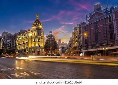 Madrid, Gran via street