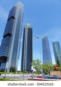 Madrid / Highrise area in Madrid / Picture showing the highrise district in Madrid, taken in April 2016.