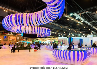MADRID - JAN 19: Canary islands stand in FITUR (International Tourism Fair) on January 19, 2018 in Madrid, Spain