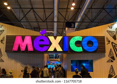 MADRID - JAN 19: Mexico stand in FITUR (International Tourism Fair) on January 19, 2018 in Madrid, Spain
