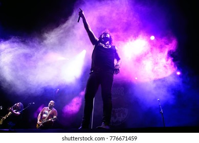 MADRID - JUN 22: Porco Bravo (music band) perform in concert at Download (heavy metal music festival) on June 22, 2017 in Madrid, Spain.
