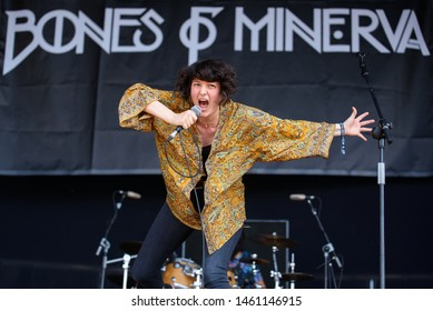 MADRID - JUN 30: Bones of Minerva (band) perform in concert at Download (heavy metal music festival) on June 30, 2019 in Madrid, Spain.