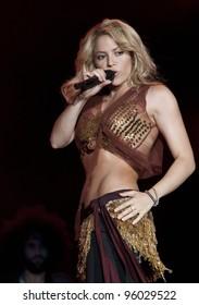 MADRID - JUNE 6: Shakira's concert during the Rock in Rio in Arganda del Rey on June 6, 2010 in Madrid