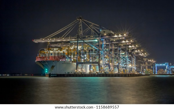 Madrid Maersk Worlds Second Largest Container Stock Photo