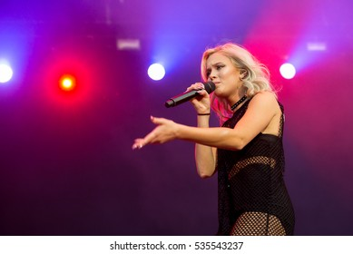 MADRID - SEP 10: Zara Larsson (singer) performs in concert at Dcode Music Festival on September 10, 2016 in Madrid, Spain.