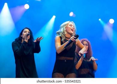 MADRID - SEP 10: Zara Larsson (singer) performs in concert at Dcode Music Festival on September 10, 2016 in Madrid, Spain.
