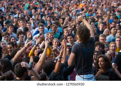 MADRID - SEP 8: Albert Hammond Jr performs in concert at Dcode Music Festival on September 8, 2018 in Madrid, Spain.
