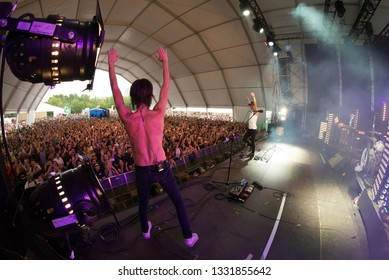 MADRID - SEP 8: Sidonie (Spanish rock band) perform in concert at Dcode Music Festival on September 8, 2018 in Madrid, Spain.