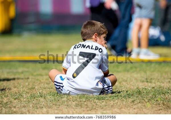 purchase cheap 85f08 25f6c Madrid Sep 9 Kid Cristiano Ronaldo Stock Photo (Edit Now ...