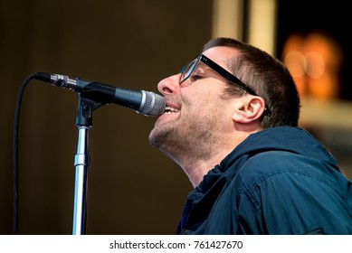 MADRID - SEP 9: Liam Gallagher performs in concert at Dcode Music Festival on September 9, 2017 in Madrid, Spain.
