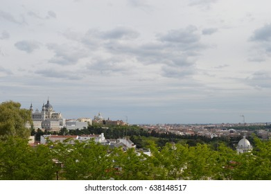 madrid skyline wide