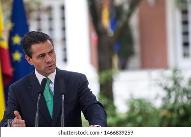 MADRID, SPAIN 06/10/2014 THE PRESIDENT OF MEXICO, ENRIQUE PEÑA NIETO.