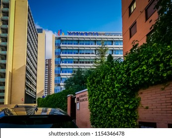 Madrid, Spain; 08 11 2017: A photo of the business park or office park northern park, also known as Parque Norte, which is an area of land in the north where many office buildings are grouped together
