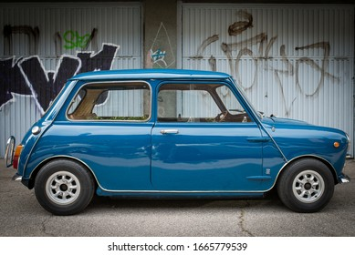 Madrid, Spain. 09/12/2014. The Mini is a small car of segment A produced by the British Motor Company and its successor companies between 1959 and 2000.