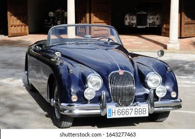 Madrid, Spain, 10/23/2017. Jaguar XK 150 Black