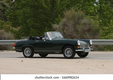 Madrid, Spain, 11/01/2010. The MG Midget is a small two-seater sports car produced by MG from 1961 to 1979.