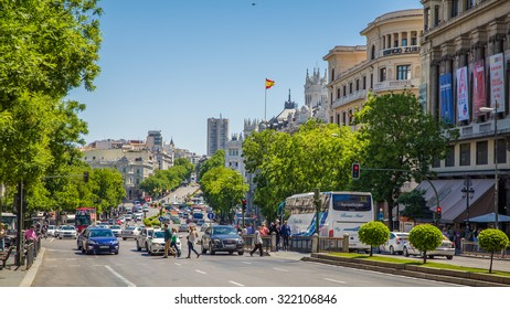 Madrid, Spain - 15 MAY 2015, Walking trough the city center of Madrid
