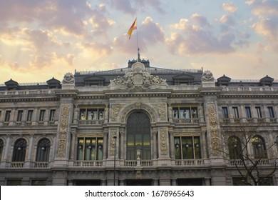 MADRID, SPAIN - 17 January, 2020: Bank of Spain in Madrid