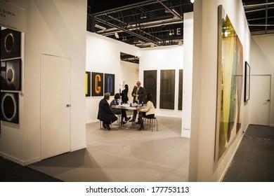MADRID, SPAIN - 19 FEBRUARY 2014.Sculpture.Begins 2014 ARCO, the International Contemporary Art Fair in Madrid, Spain