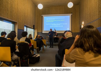 """-MADRID, SPAIN, 2018, DECEMBER, 19- The non-profit organization -Accem- presents the research """"SOGI refugees in Spain: The right of asylum for reasons of sexual and gender diversity""""."""