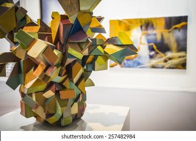 MADRID, SPAIN - 25 FEBRUARY 2015. ARCO, the International Contemporary Art Fair in Madrid, Spain