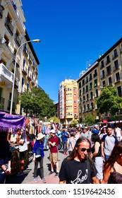 Madrid Spain 29 September 2019. Open market on a Sunday.