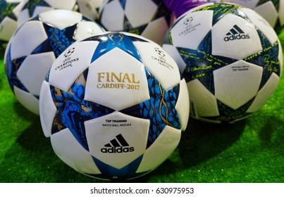 9cd6fcd94e05f MADRID, SPAIN -30 MAR 2017- Official 2017 UEFA European Champions League  match replica