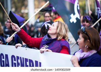 Madrid, Spain 8/3/2019. Protect day for women's equality.
