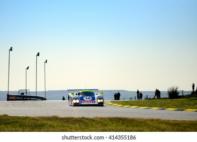 MADRID, SPAIN - APR 1 : British driver Thomas Kimber-Smith races in a Aston Martin AMR1 during the Jarama Classic, on Apr 1, 2016 in Madrid, Spain.