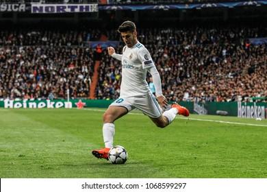 Madrid, Spain. April 11, 2018. UEFA Champions League. Real Madrid - Juventus 1-3. Marco Asensio, Real Madrid.