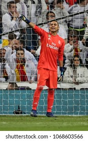 Madrid, Spain. April 11, 2018. UEFA Champions League. Real Madrid - Juventus 1-3. Keylor Navas, goalkeeper Real Madrid.