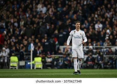 Madrid, Spain. April 11, 2018. UEFA Champions League. Real Madrid - Juventus 1-3. Cristiano Ronaldo, Real Madrid.