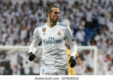 Madrid, Spain. April 11, 2018. UEFA Champions League. Real Madrid - Juventus 1-3. Gareth Bale, Real Madrid.