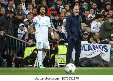 Madrid, Spain. April 11, 2018. UEFA Champions League. Real Madrid - Juventus 1-3. Zinedine Zidane, manager Real Madrid.