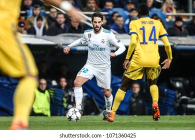 Madrid, Spain. April 11, 2018. UEFA Champions League. Real Madrid - Juventus 1-3. Isco, Real Madrid.