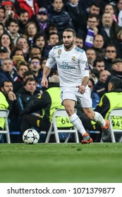 Madrid, Spain. April 11, 2018. UEFA Champions League. Real Madrid - Juventus 1-3. Carvajal, Real Madrid.