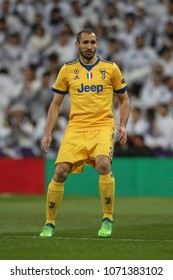 Madrid, Spain. April 11, 2018. UEFA Champions League. Real Madrid - Juventus 1-3. Giorgio Chiellini, Juventus.
