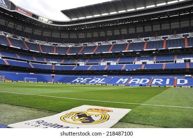 MADRID, SPAIN - April 16th, 2013 : View of an empty Santiago Bernabeu Stadium of REAL MADRID hours before the La Liga match