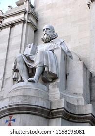 Madrid, Spain - April 24, 2012: Miguel Cervantes monument