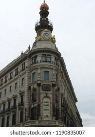 Madrid, Spain - April 24, 2012: Banco Espanol de Credito, old building Bank in Madrid Spain