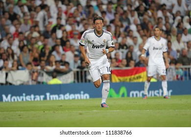 MADRID, SPAIN - AUGUST 29: Mezut Azil during the Supercopa, Real Madrid vs FC Barcelona, on August 29, 2012 at the Santiago Bernabeu Stadium.