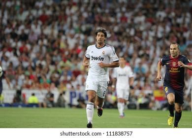 MADRID, SPAIN - AUGUST 29: Sami Khedira during the Supercopa, Real Madrid vs FC Barcelona, on August 29, 2012 at the Santiago Bernabeu Stadium.