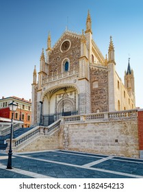 MADRID, SPAIN - AUGUST 31, 2018: San Jeronimo el Real (St. Jerome the Royal) - Roman Catholic church in central Madrid dated from 16th century.