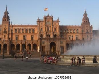 Madrid, Spain, August 9th. 2017. Plaza de Espana