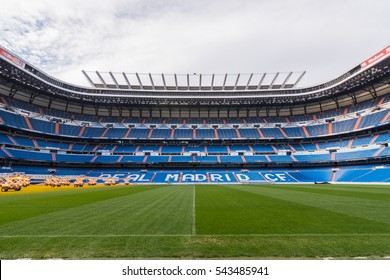 MADRID, SPAIN - DEC 26 2016: The view of the Santiago Bernabeu, stadium of Real Madrid.